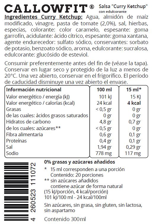 INFO NUTRICIONAL CURRY KETCHUP
