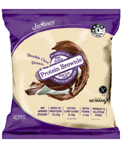 JUSTINE's DOUBLE CHOC DREAM BROWNIE PROTEIN COOKIE 64G